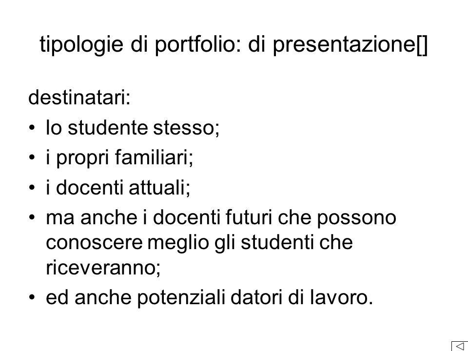 tipologie di portfolio: di presentazione[]